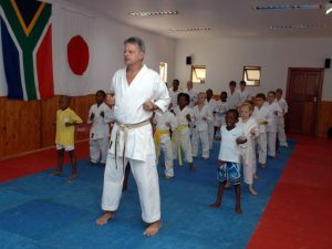 Karate training with Soon Pretorius.